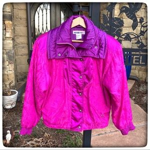 Retro Pink Purple Ski Snow Insulated Jacket 6